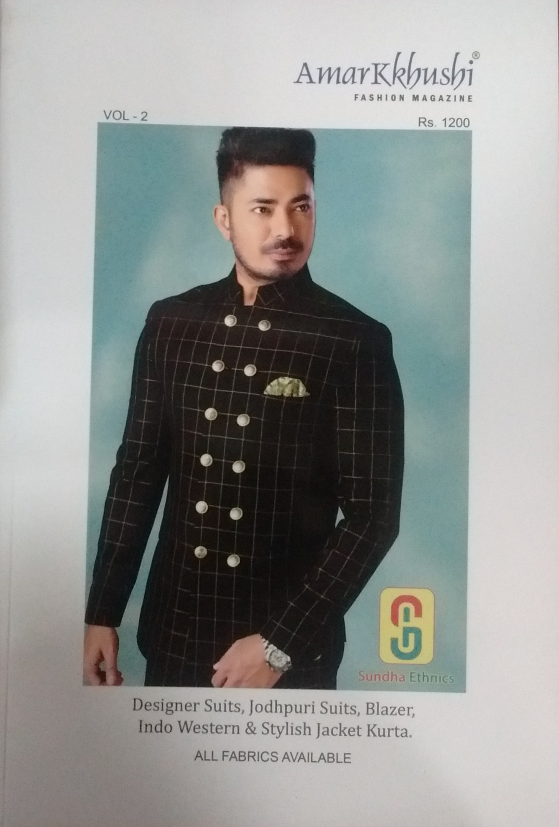 Home Fashion Designing Amarkkhushi Magazine Designer Suits Jodhpuri Blazer Indo Western Stylish Jacket Kurta All Fabrics Available